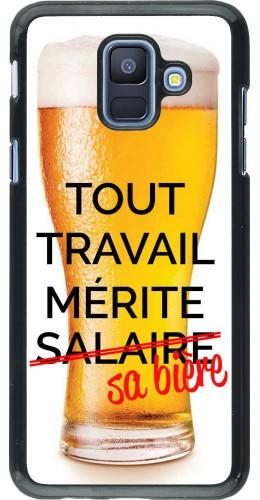 Coque Samsung Galaxy A6 - Tout travail mérite sa bière