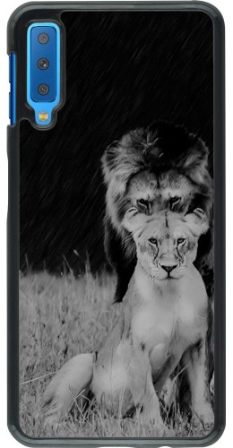 Coque Samsung Galaxy A7 - Angry lions