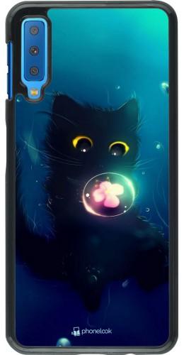 Coque Samsung Galaxy A7 - Cute Cat Bubble