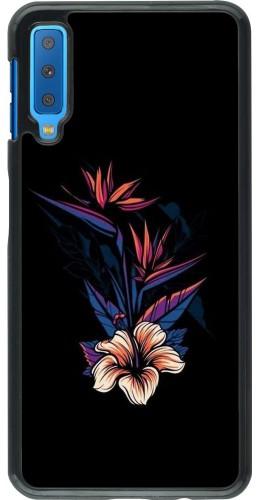 Coque Samsung Galaxy A7 - Dark Flowers
