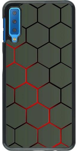 Coque Samsung Galaxy A7 - Geometric Line red