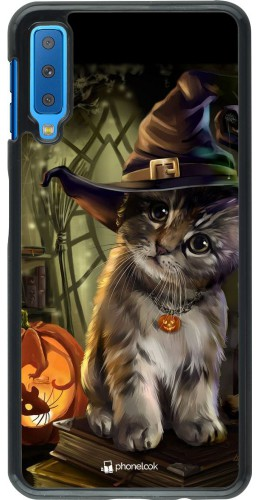 Coque Samsung Galaxy A7 - Halloween 21 Witch cat