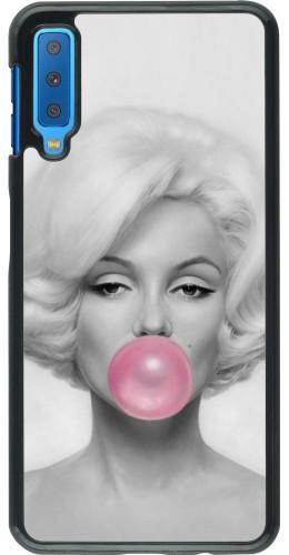 Coque Samsung Galaxy A7 - Marilyn Bubble