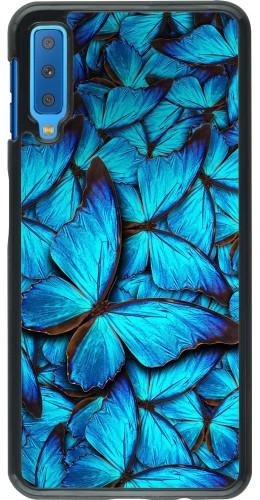 Coque Samsung Galaxy A7 - Papillon bleu