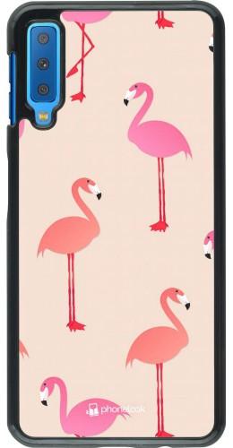 Coque Samsung Galaxy A7 - Pink Flamingos Pattern