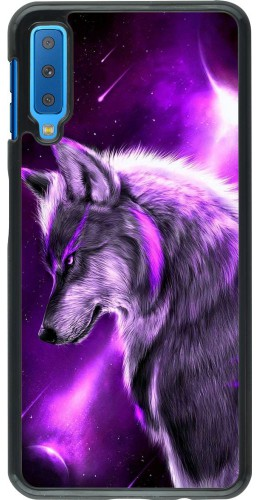 Coque Samsung Galaxy A7 - Purple Sky Wolf