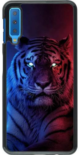 Coque Samsung Galaxy A7 - Tiger Blue Red