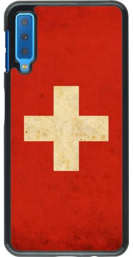 Coque Samsung Galaxy A7 - Vintage Flag SWISS