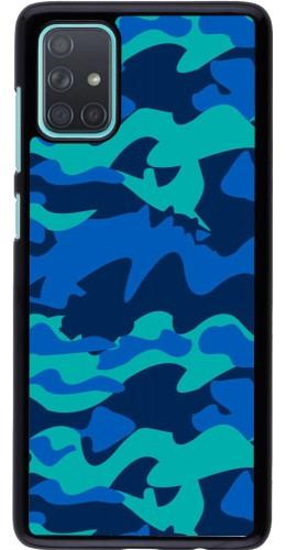 Coque Samsung Galaxy A71 - Camo Blue