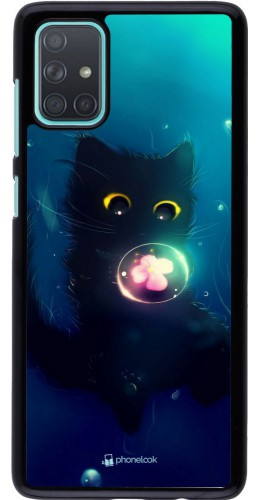Coque Samsung Galaxy A71 - Cute Cat Bubble