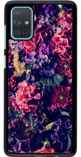 Coque Samsung Galaxy A71 - Flowers Dark