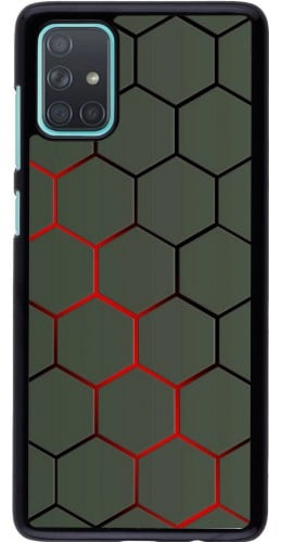 Coque Samsung Galaxy A71 - Geometric Line red