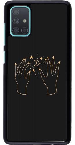 Coque Samsung Galaxy A71 - Grey magic hands