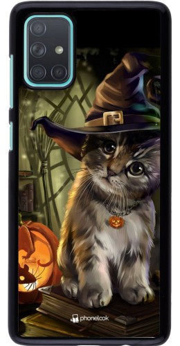 Coque Samsung Galaxy A71 - Halloween 21 Witch cat