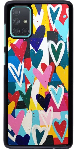 Coque Samsung Galaxy A71 - Joyful Hearts