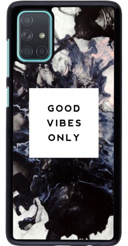 Coque Samsung Galaxy A71 - Marble Good Vibes Only
