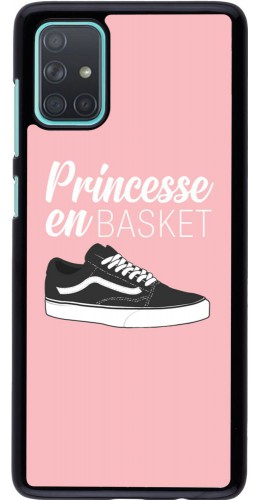 Coque Samsung Galaxy A71 - princesse en basket