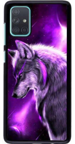 Coque Samsung Galaxy A71 - Purple Sky Wolf