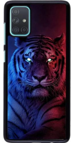 Coque Samsung Galaxy A71 - Tiger Blue Red