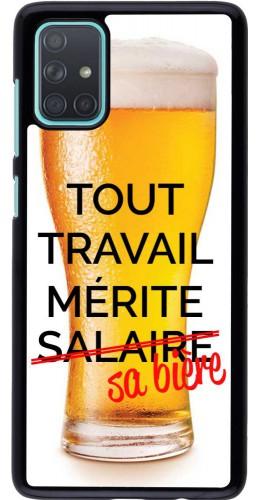 Coque Samsung Galaxy A71 - Tout travail mérite sa bière