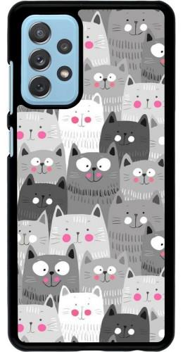 Coque Samsung Galaxy A72 - Chats gris troupeau