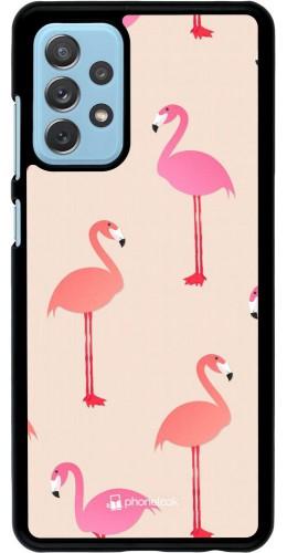 Coque Samsung Galaxy A72 - Pink Flamingos Pattern