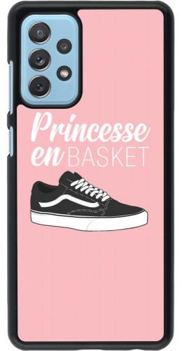 Coque Samsung Galaxy A72 - princesse en basket