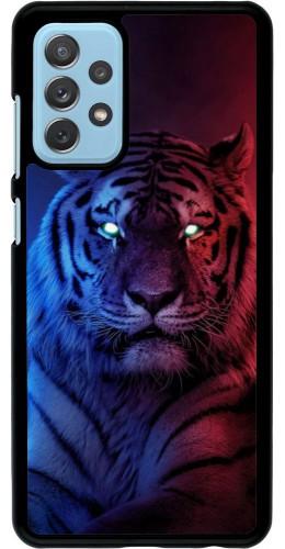 Coque Samsung Galaxy A72 - Tiger Blue Red
