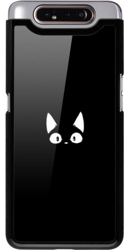 Coque Samsung Galaxy A80 - Funny cat on black
