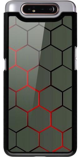 Coque Samsung Galaxy A80 - Geometric Line red
