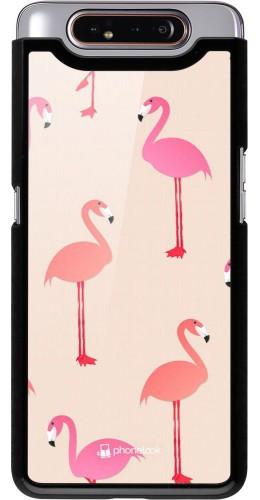Coque Samsung Galaxy A80 - Pink Flamingos Pattern
