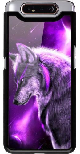 Coque Samsung Galaxy A80 - Purple Sky Wolf