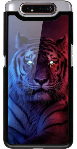 Coque Samsung Galaxy A80 - Tiger Blue Red