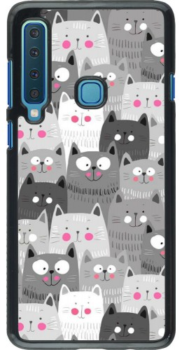 Coque Samsung Galaxy A9 - Chats gris troupeau