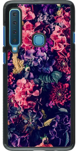 Coque Samsung Galaxy A9 - Flowers Dark