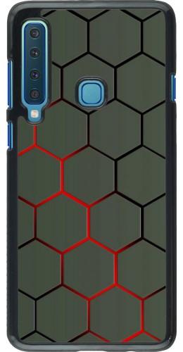 Coque Samsung Galaxy A9 - Geometric Line red