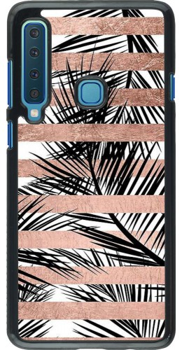 Coque Samsung Galaxy A9 - Palm trees gold stripes
