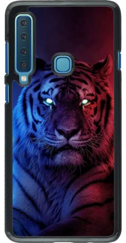 Coque Samsung Galaxy A9 - Tiger Blue Red