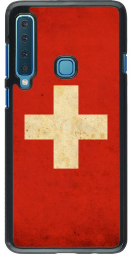 Coque Samsung Galaxy A9 - Vintage Flag SWISS