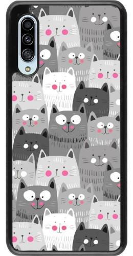 Coque Samsung Galaxy A90 5G - Chats gris troupeau