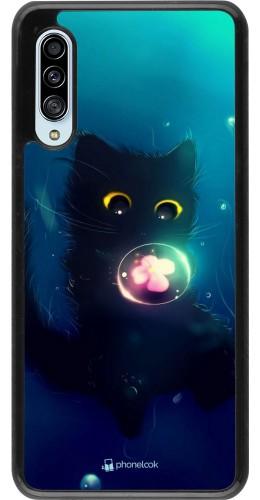 Coque Samsung Galaxy A90 5G - Cute Cat Bubble