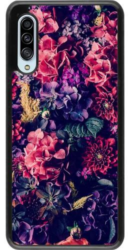Coque Samsung Galaxy A90 5G - Flowers Dark