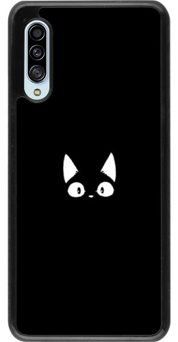 Coque Samsung Galaxy A90 5G - Funny cat on black