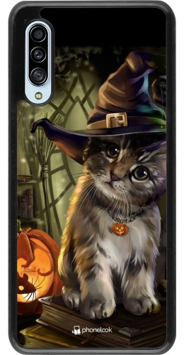 Coque Samsung Galaxy A90 5G - Halloween 21 Witch cat