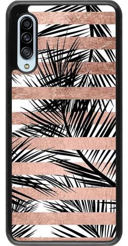 Coque Samsung Galaxy A90 5G - Palm trees gold stripes