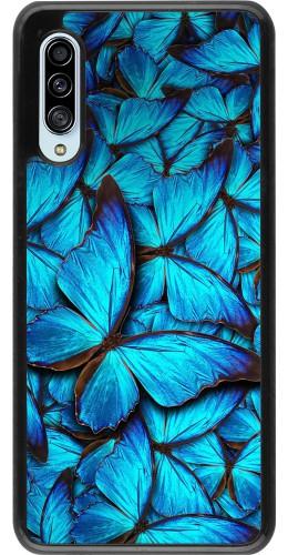 Coque Samsung Galaxy A90 5G - Papillon bleu