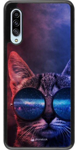 Coque Samsung Galaxy A90 5G - Red Blue Cat Glasses