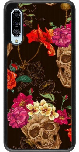 Coque Samsung Galaxy A90 5G - Skulls and flowers