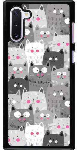 Coque Samsung Galaxy Note 10 - Chats gris troupeau