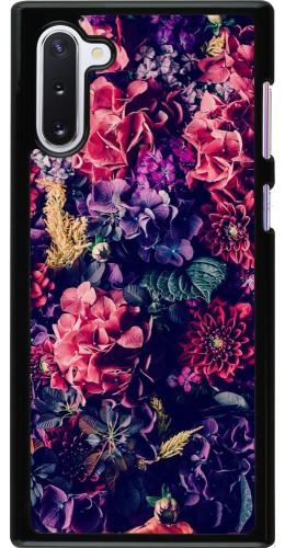 Coque Samsung Galaxy Note 10 - Flowers Dark
